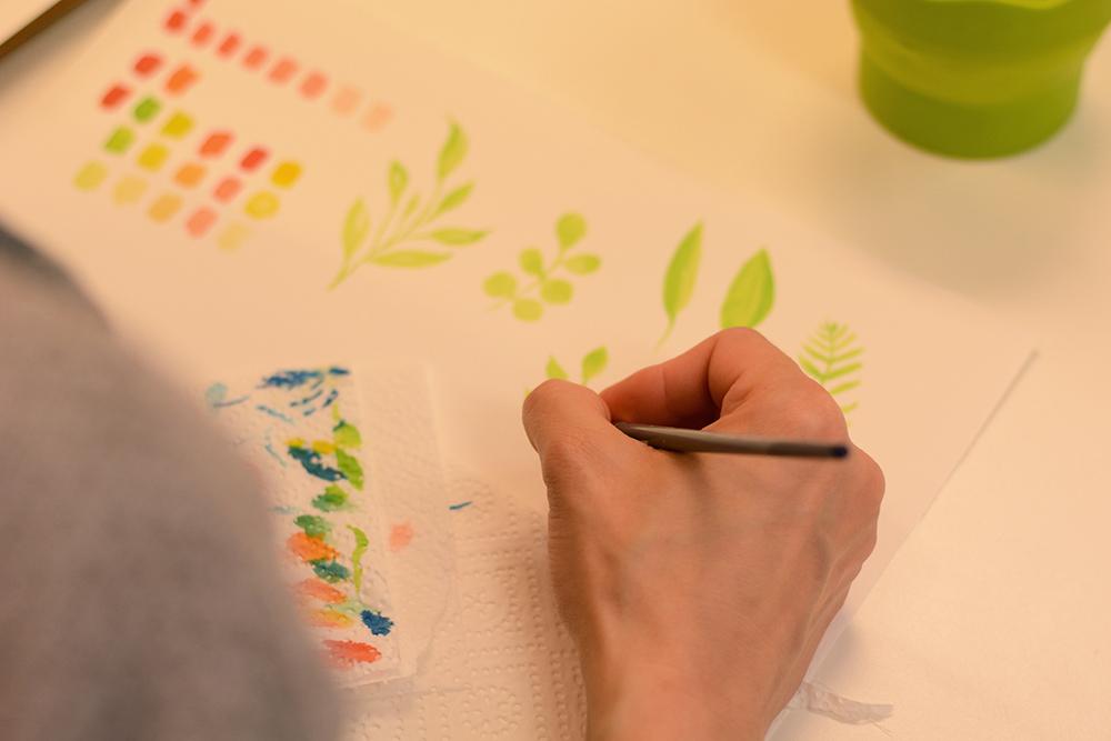 Aquarellmalerei-Workshop: Blumen | we love handmade