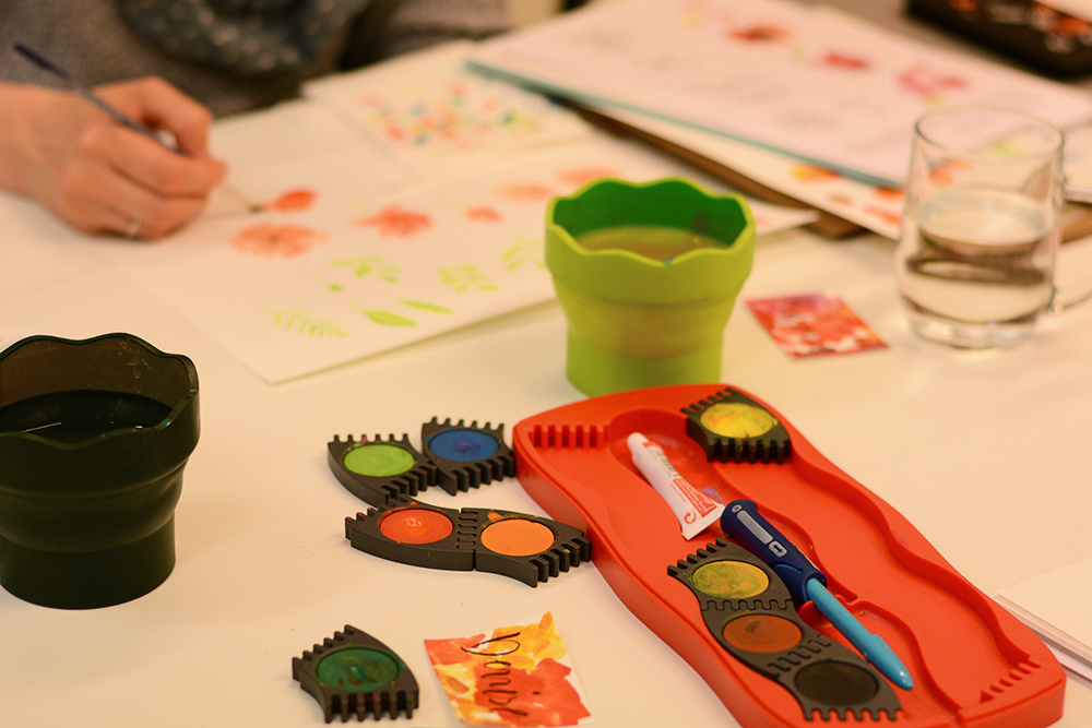 Aquarellmalerei-Workshop: Naturelemente | we love handmade