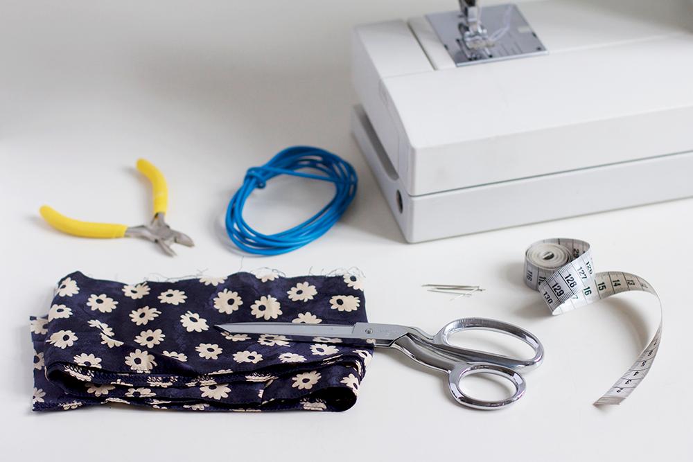 Material für das DIY Haarband mit Draht | we love handmade