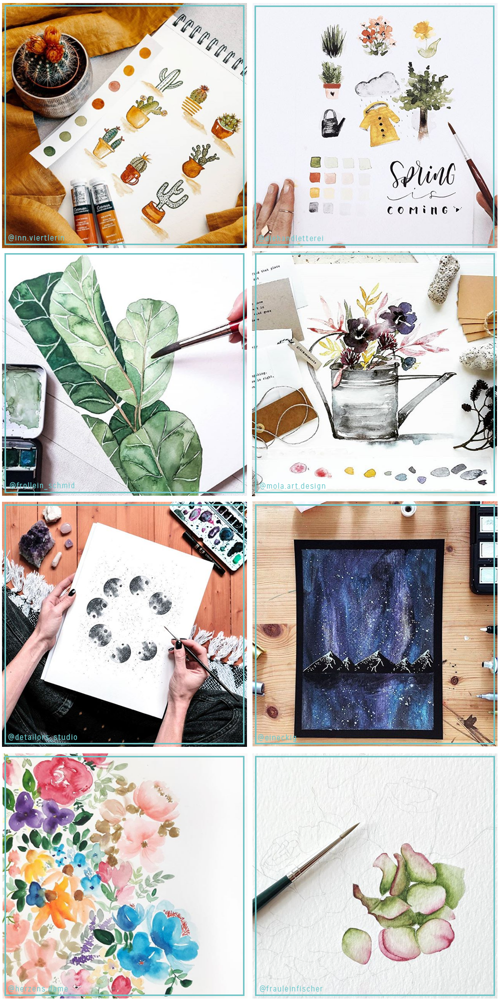 Feature: Aquarellkünstlerinnen auf Instagram | we love handmade