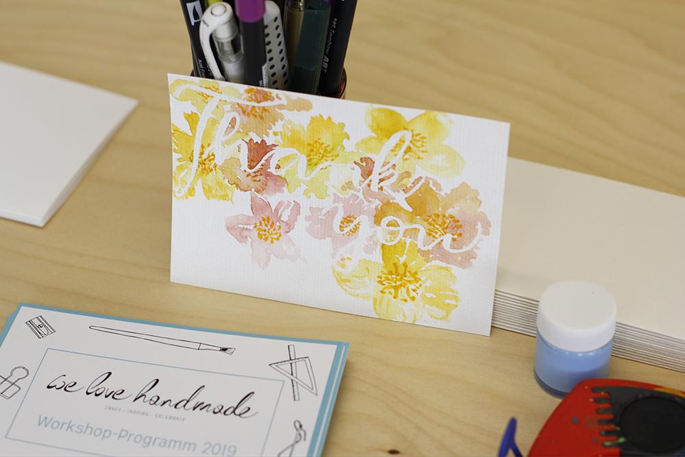 Frühlingsmarkt: Karten-DIY-Station | we love handmade
