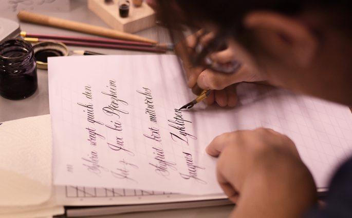 Kalligraphie für Fortgeschrittene: Workshop | we love handmade