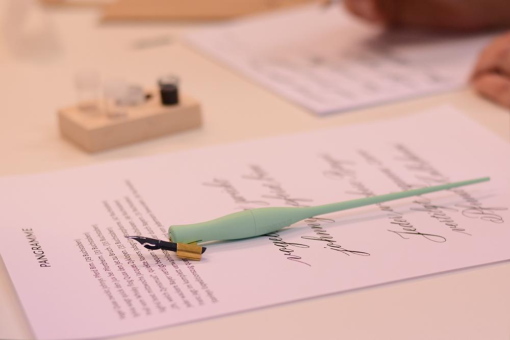 Kalligraphie-Workshop Übungen für Fortgeschrittene | we love handmade