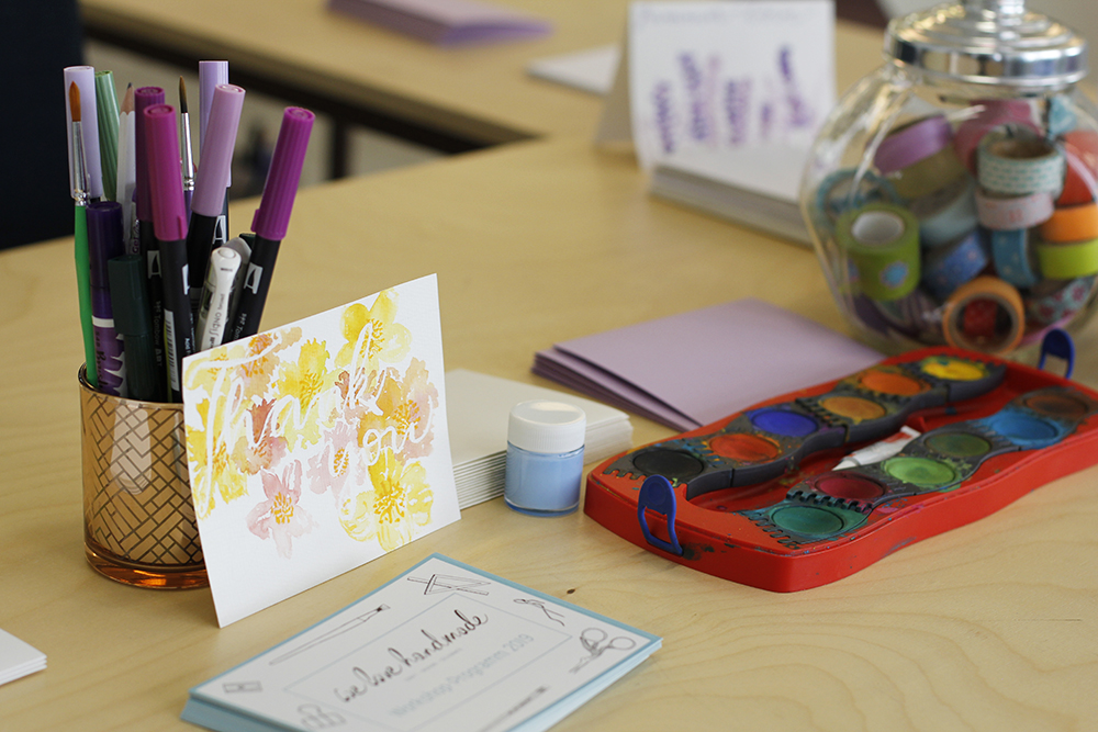 Muttertagskarten gestalten: Frühlingsmarkt | we love handmade