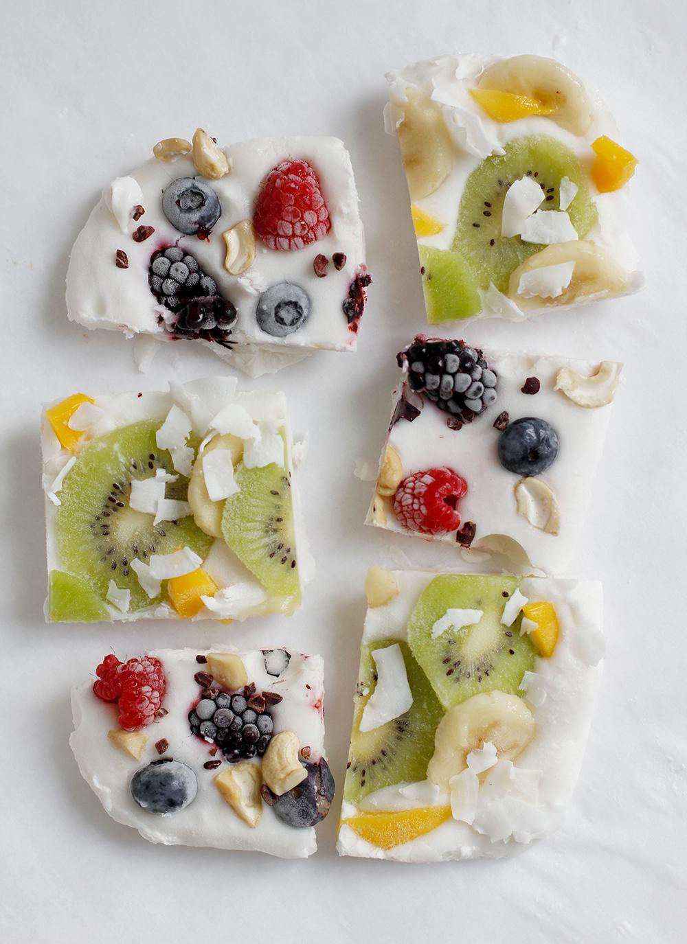 Rezept: Frozen Yogurt Bark vegan | we love handmade