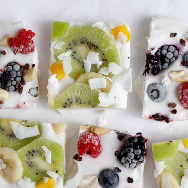 Rezept: Frozen Yogurt Bark vegan | we love handmade