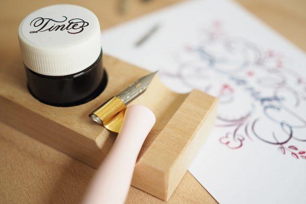 Tintenhalter inkl. Ablage aus Holz |we love handmade