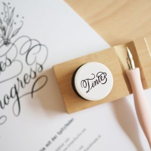 Tintenhalter inkl. Ablage aus Holz: Kalligraphie Kit |we love handmade