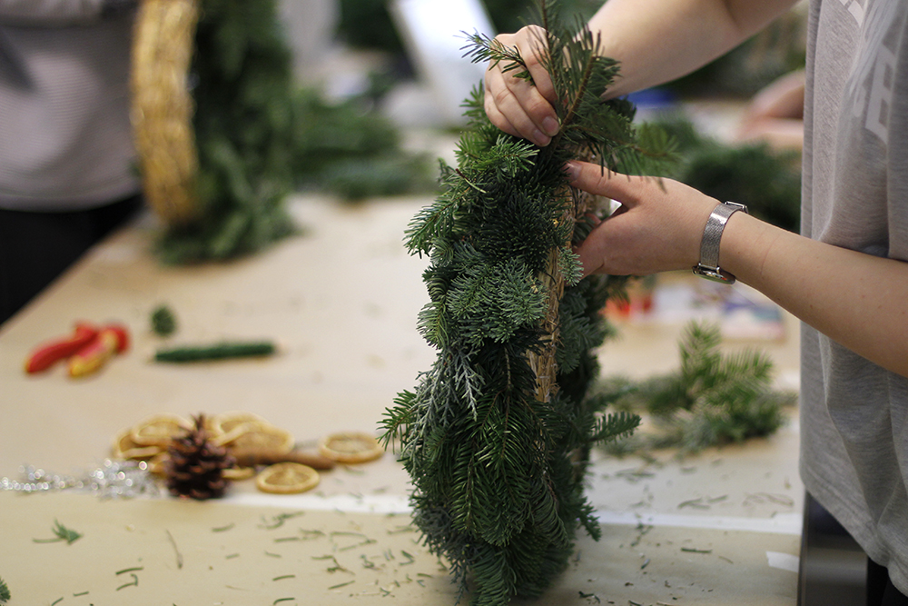 Weihnachtskranz-Workshop | we love handmade
