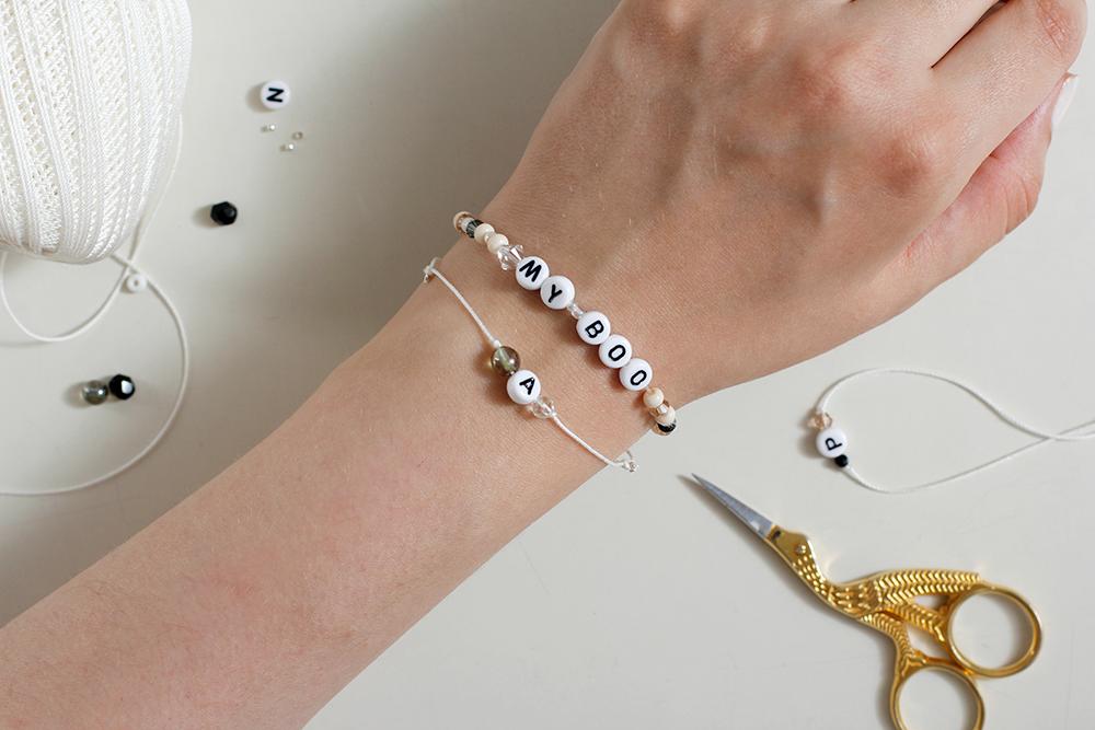 DIY: Perlenarmband Initialien | we love handmade