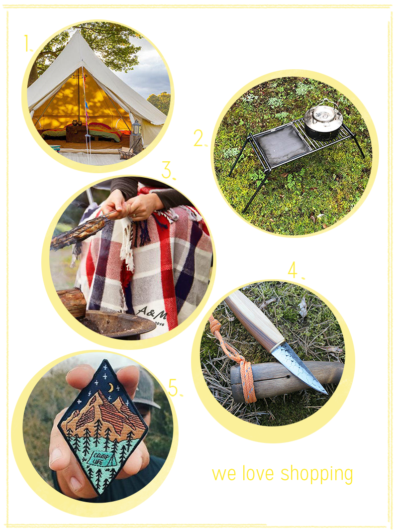 we love shopping: Camping Edition | we love handmade