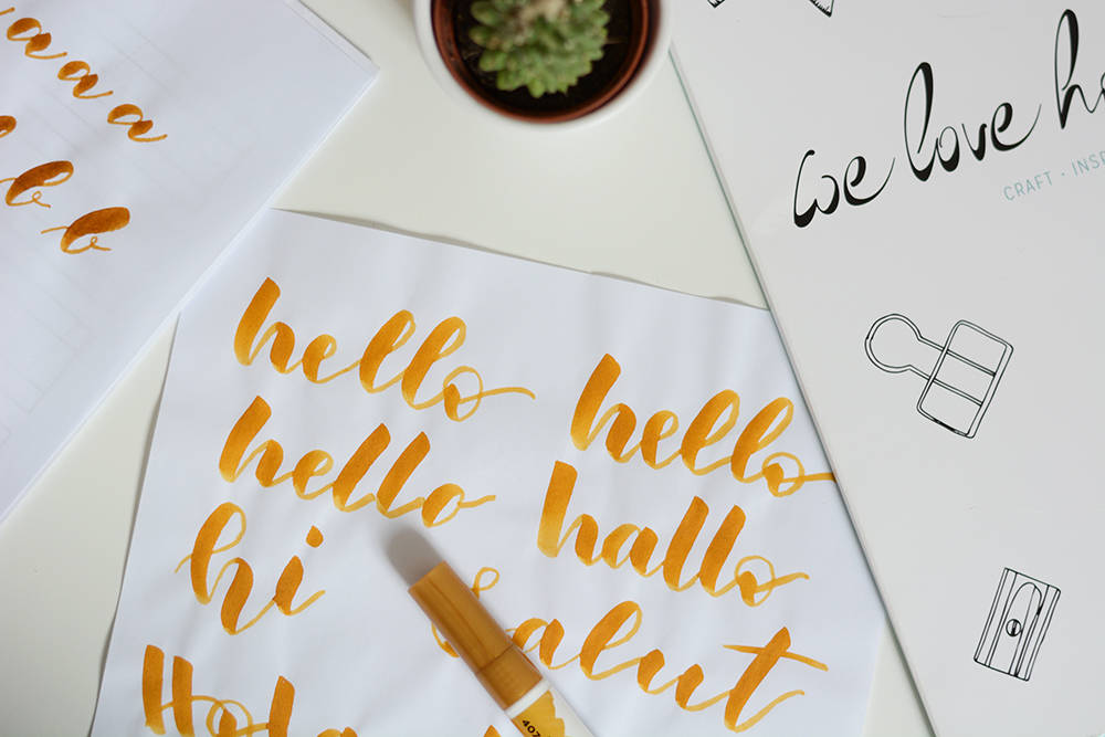 Brush Lettering Workshop in Wien | we love handmade