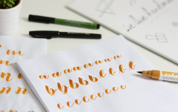 Brush Lettering Workshop | we love handmade