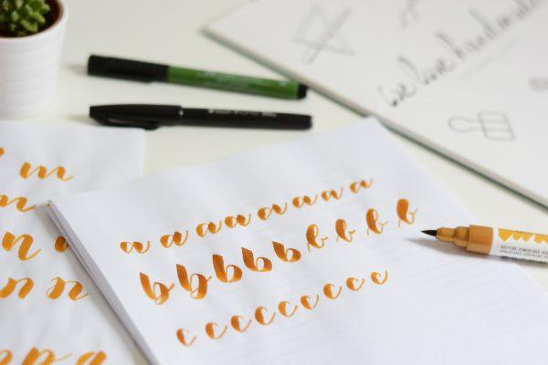 Brush Lettering Workshop | we love handmade
