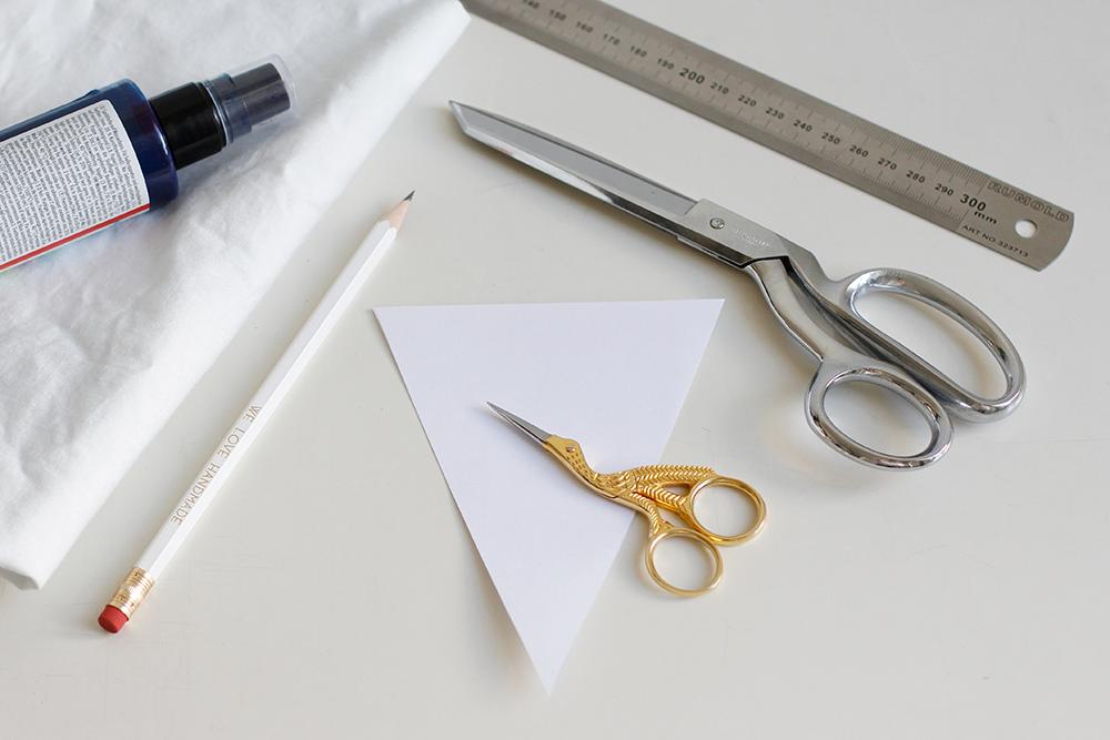 DIY: Material für den selbstgemachten Stoffwimpel | we love handmade