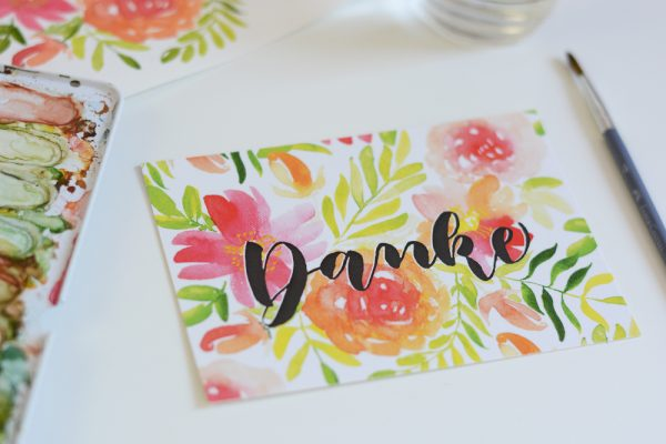Dankeskarte Shopping | we love handmade