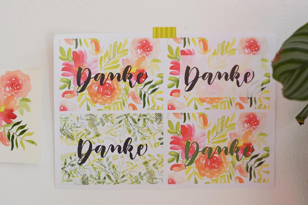 Dankeskarte Varianten | we love handmade