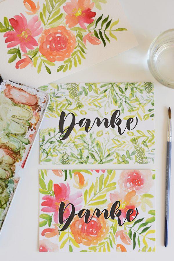 Dankeskarten verschenken | we love handmade