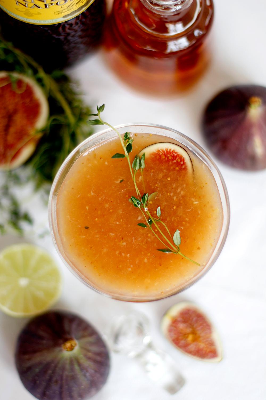 Drink: Feigen-Thymian-Cocktail mit Mandarinen Likör | we love handmade