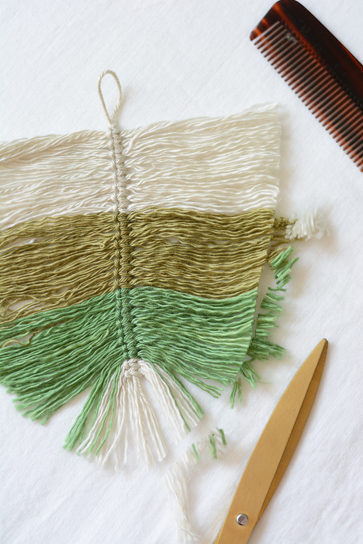 Makramee-Feder zuschneiden | we love handmade