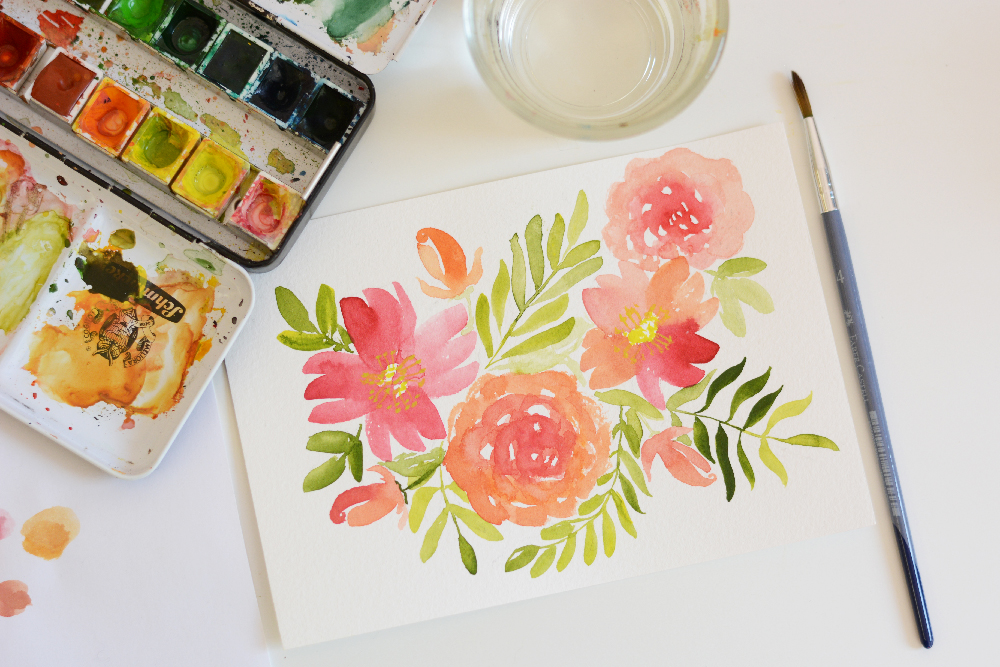 Watercolor Floral | we love handmade
