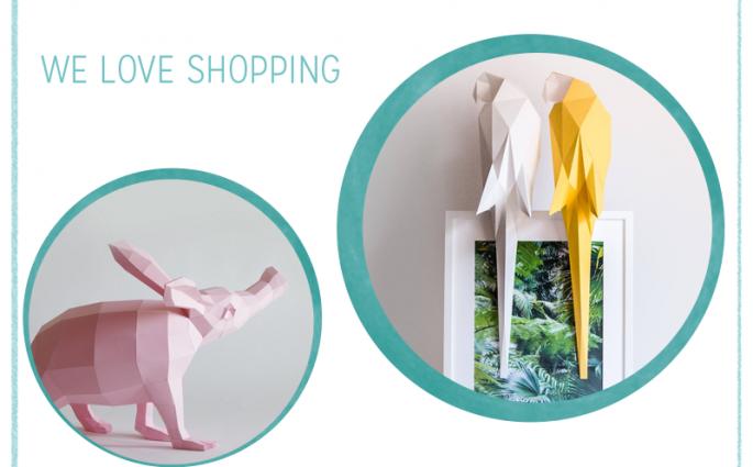we love Inspiration: Gefaltete Papiertiere als Dekoration   we love handmade