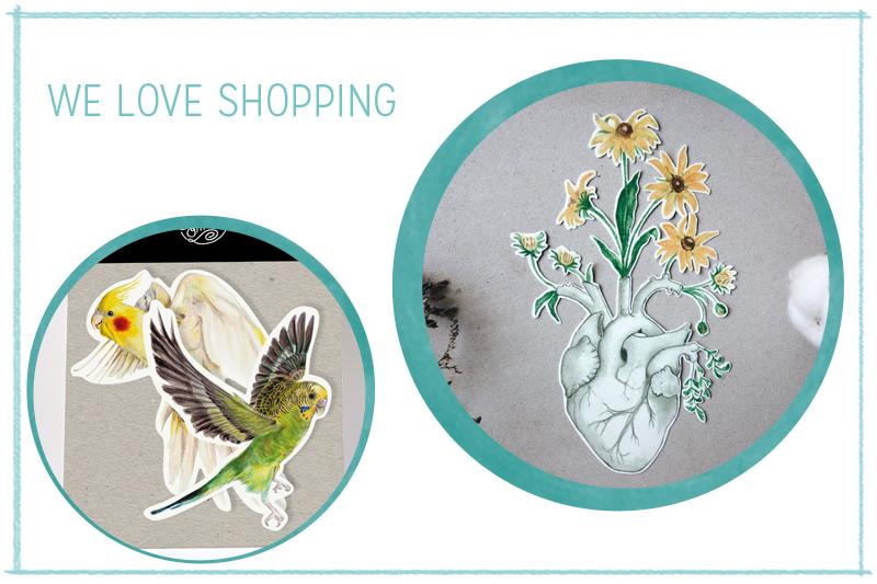 we love Shopping: Handgemachte Sticker | we love handmade