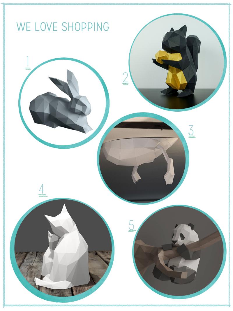 we love Inspiration: Gefaltete Papiertiere als Dekoration | we love handmade