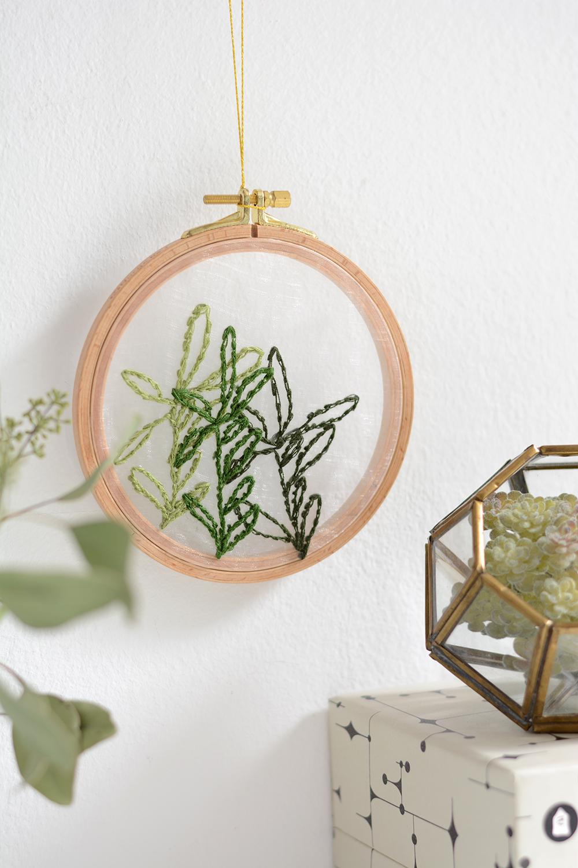Blätter-Stickbild Minimalistisch | we love handmade