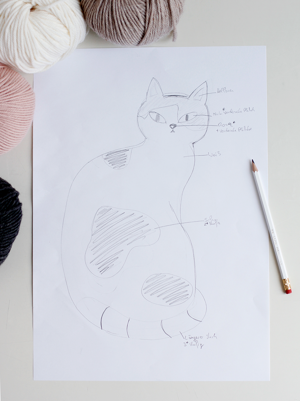 DIY Punch Rug Stofftier - fertigt von eurem Motiv eine Skizze an  | we love handmade