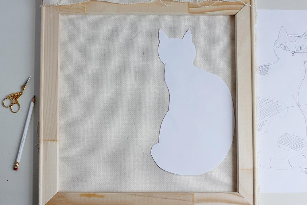 DIY Punch Rug Stofftier - Schablone von Motiv | we love handmade