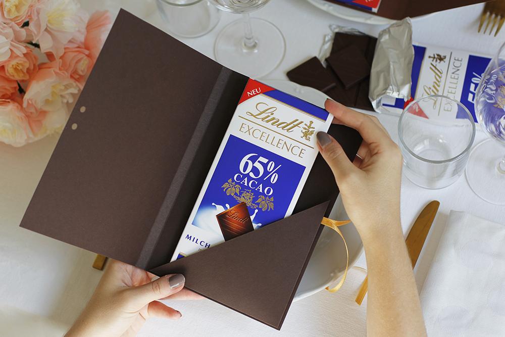 Gastgeschenk: Verpackung für Lindt | we love handmade