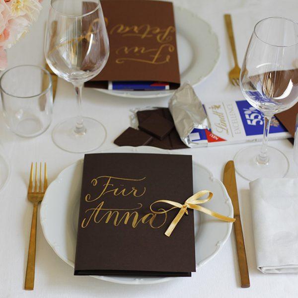 Gastgeschenk mit Lindt selbermachen | we love handmade