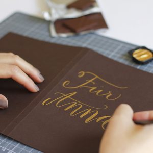 Lettering-DIY: Gastgeschenk | we love handmade