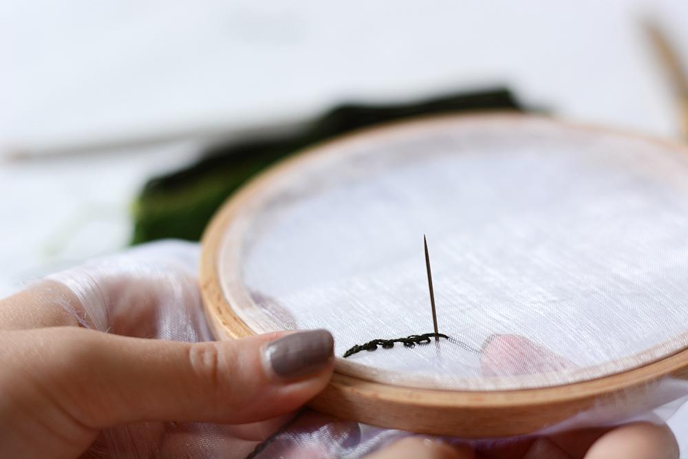 Minimalistisches Stickbild selber machen | we love handmade