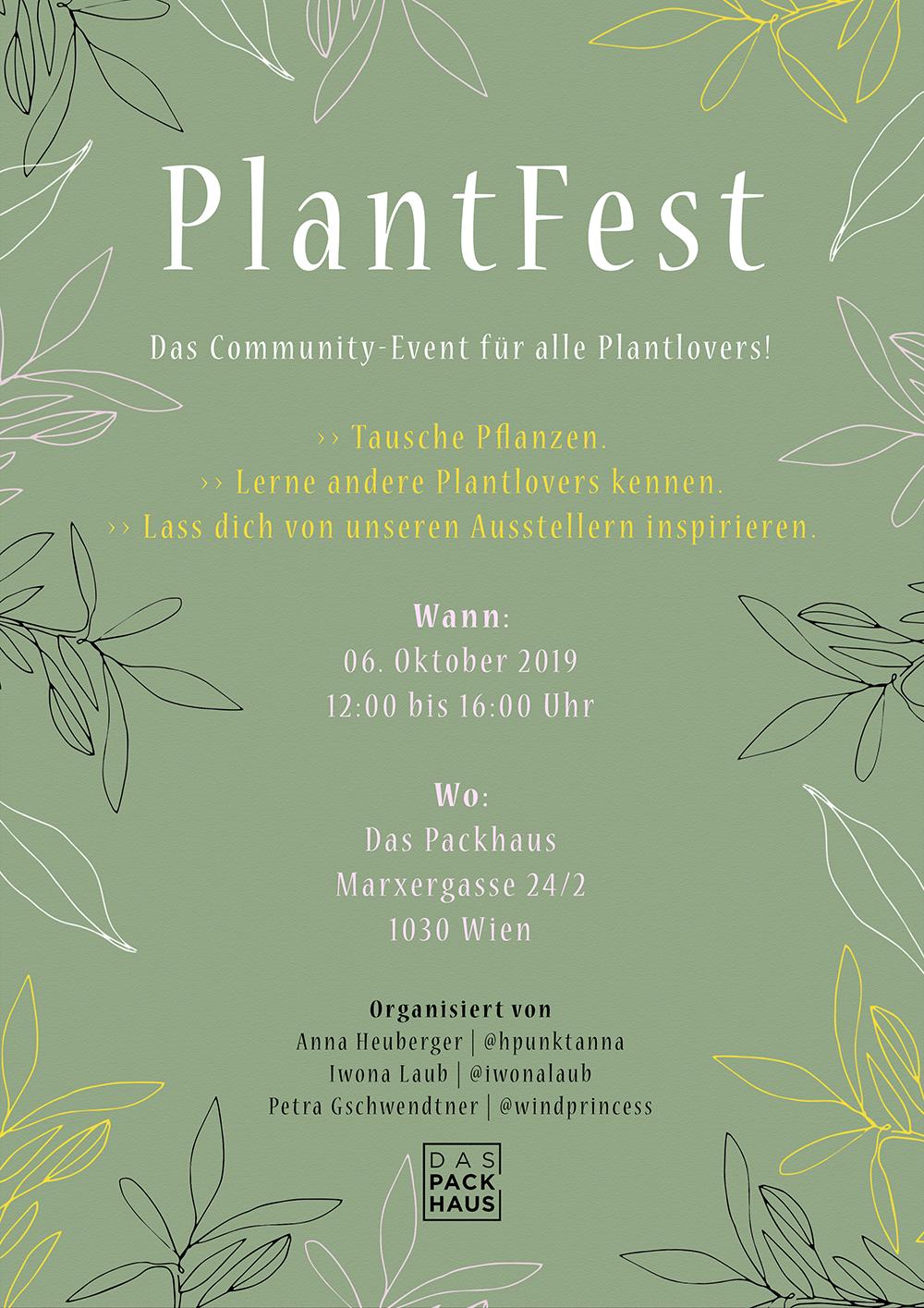 PlantFest Flyer | we love handmade