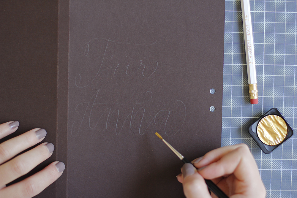 Verpackung: Gastgeschenk Lettering | we love handmade