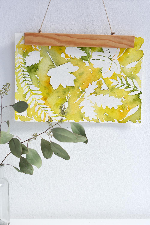 DIY: Herbstblätter-Aquarell | we love handmade