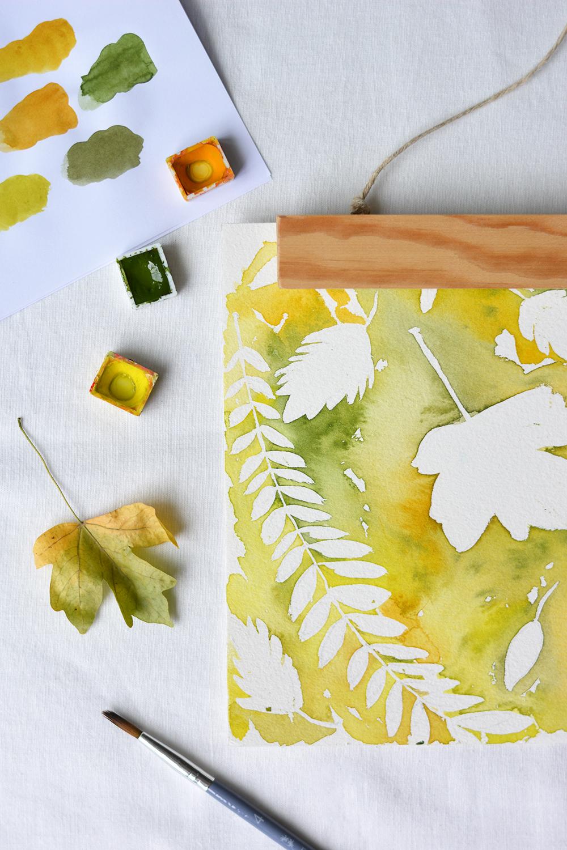 DIY: Herbstliches Aquarell | we love handmade