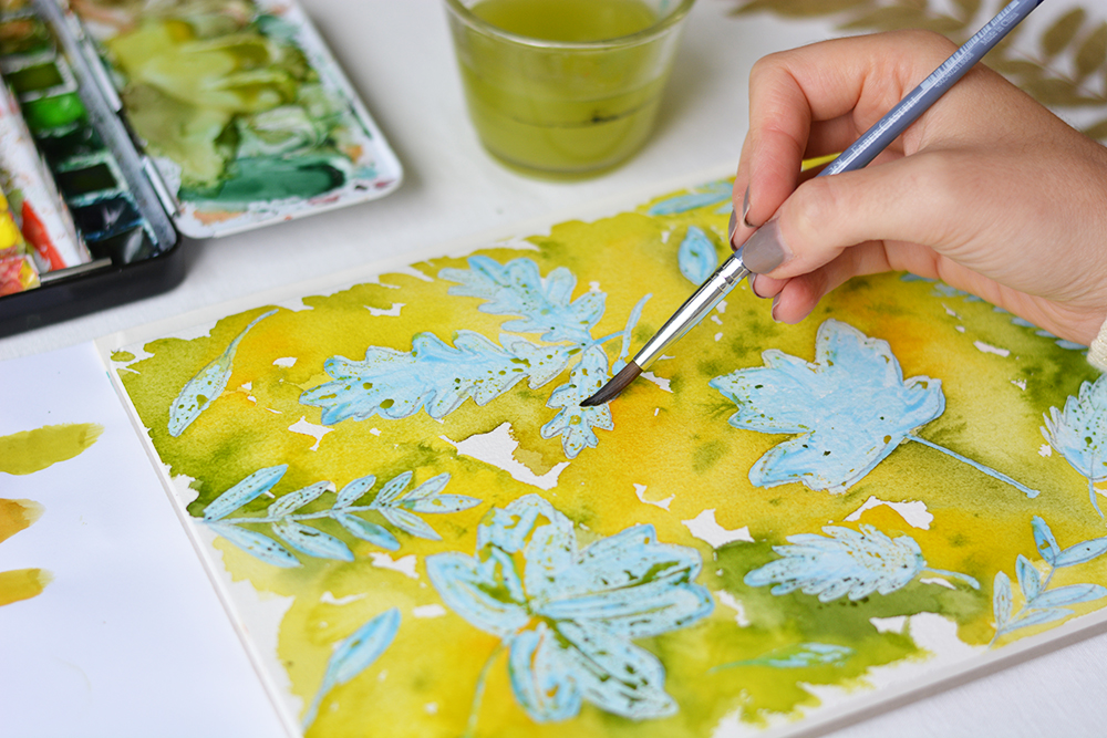 Herbstblätter Aquarell-DIY | we love handmade