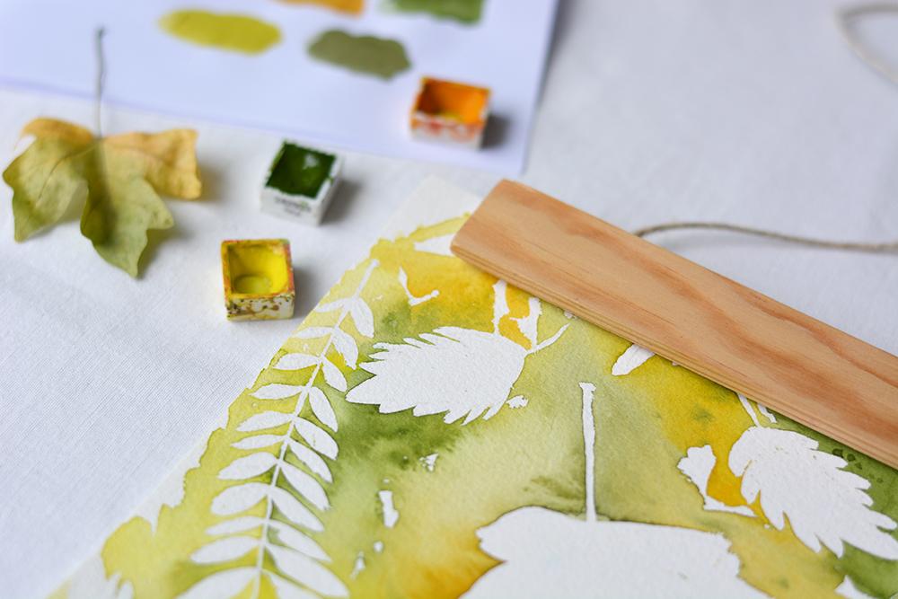 Herbstblätter Aquarellbild | we love handmade