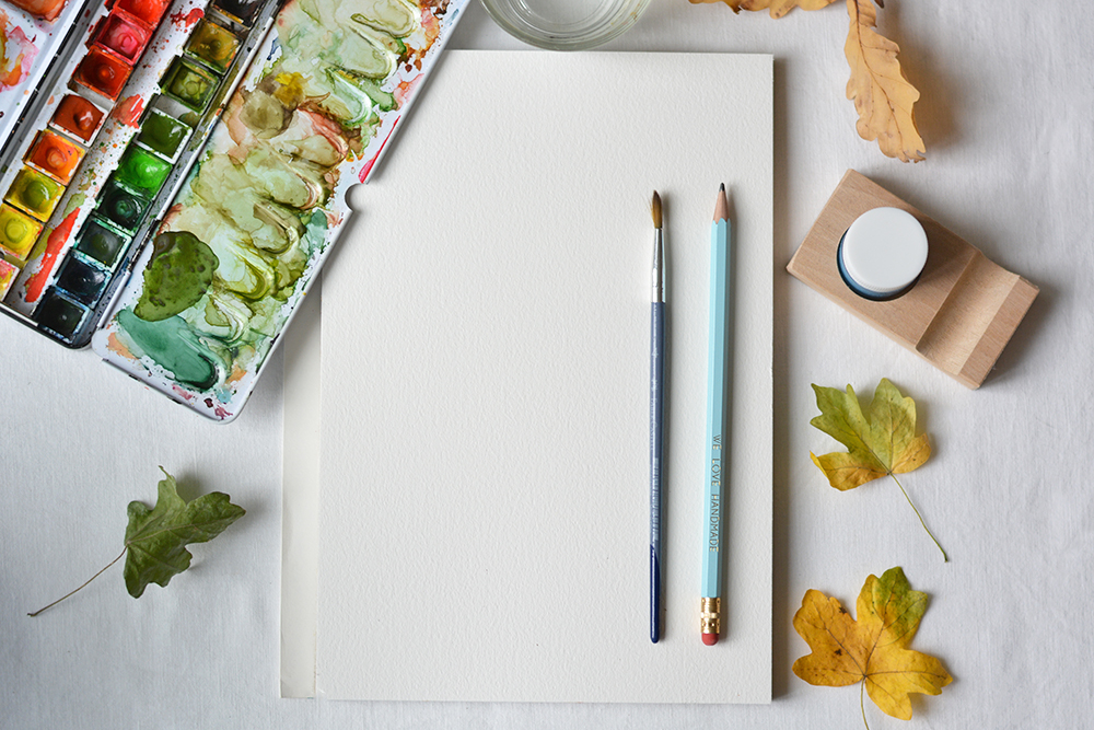 Herbstliches Aquarell: Material | we love handmade