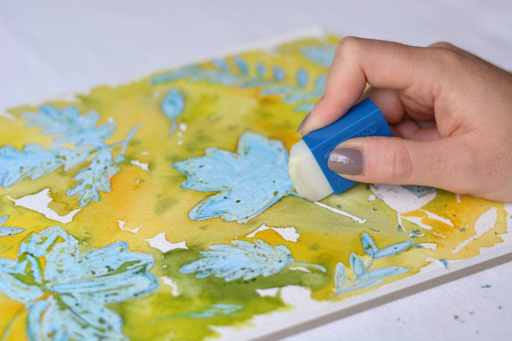 Herbstliches Aquarell: Rubbelkrepp-DIY | we love handmade