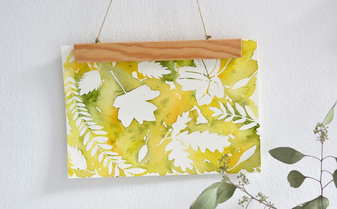 Herbstliches Aquarell: Wanddeko | we love handmade