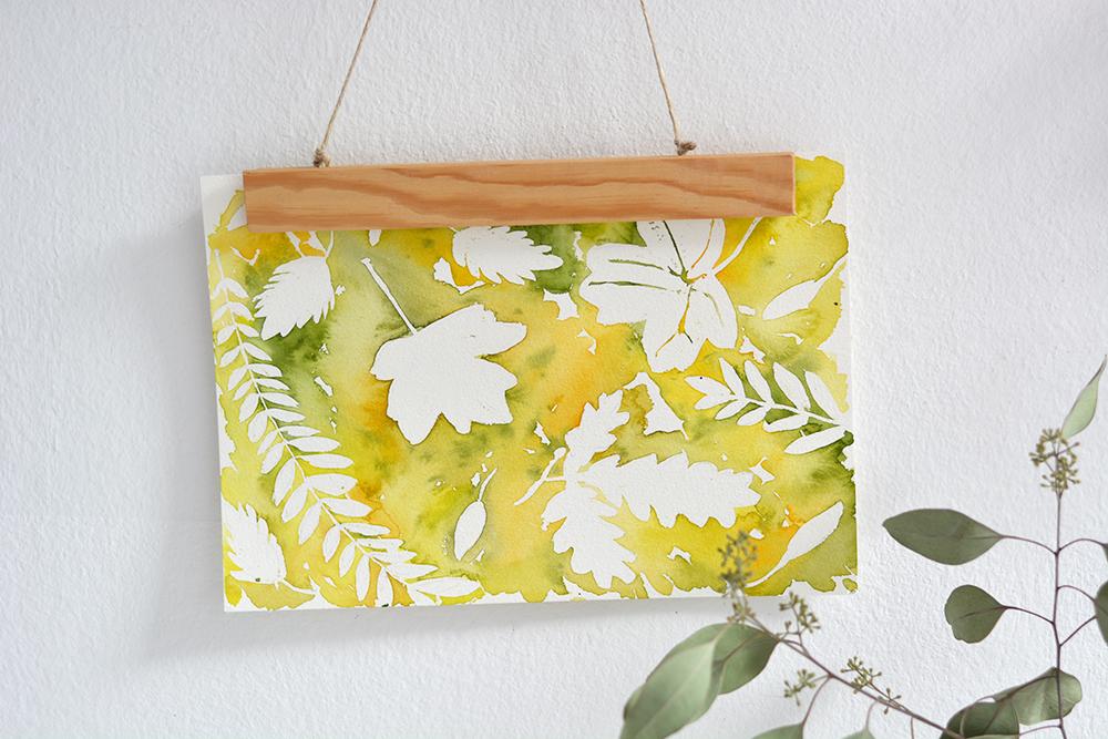 Herbstliches Aquarell: Wanddeko | we love handmade
