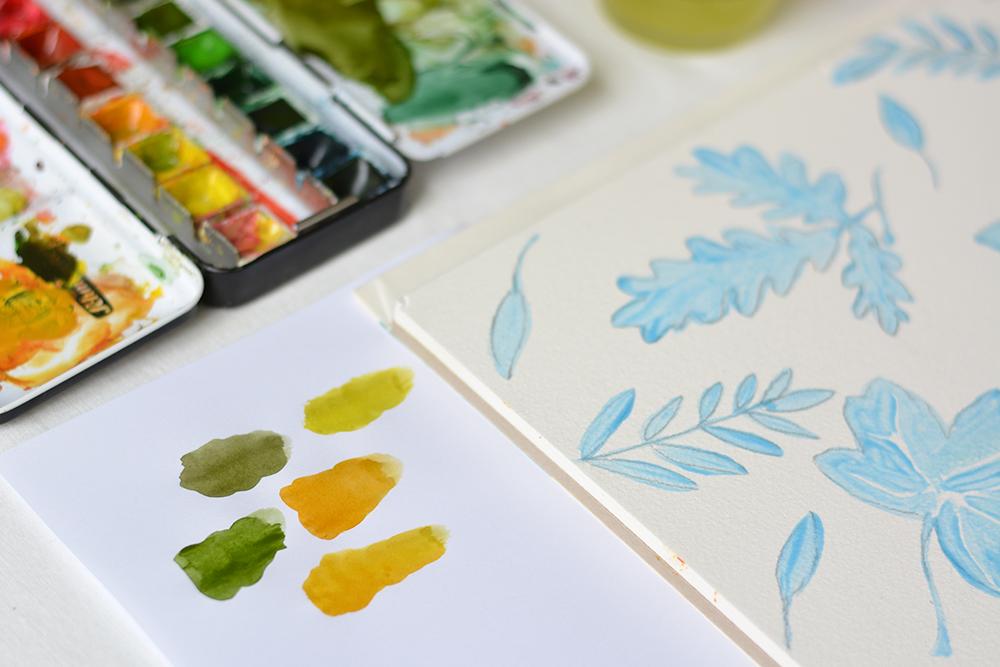 Herbstliches Aquarellbild: DIY | we love handmade