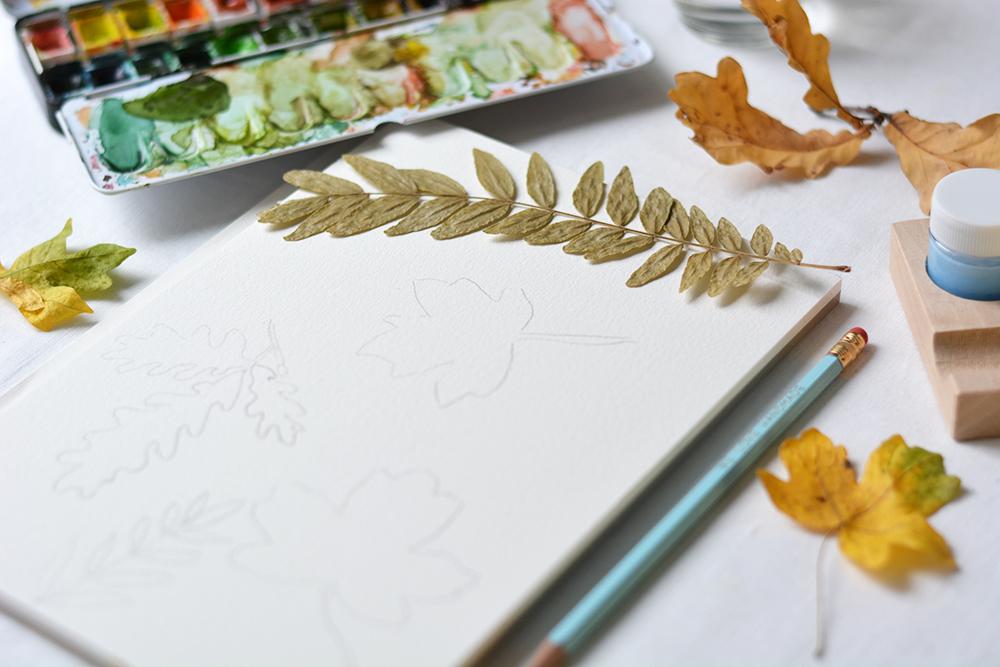 Herbstliches Aquarellbild | we love handmade