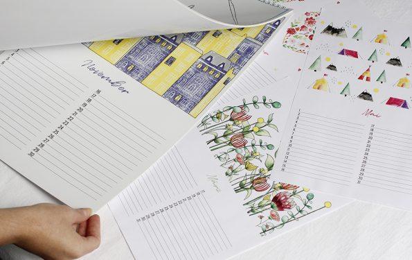 Jahreskalender A3 | we love handmade