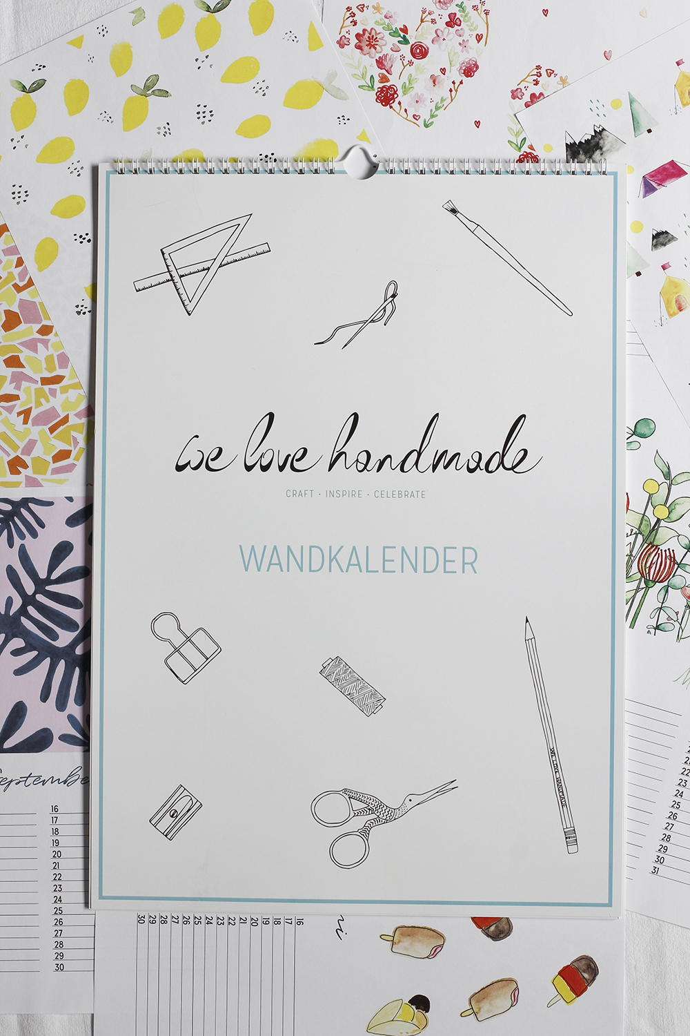 Kreativer Wandkalender | we love handmade