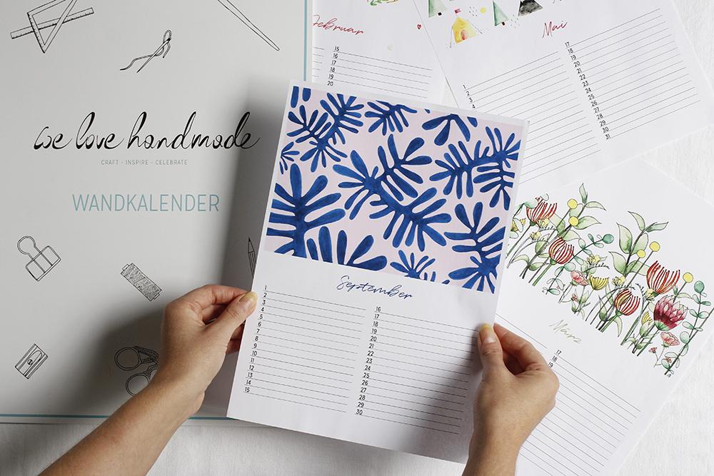 Wandkalender A3 Zeitlos | we love handmade